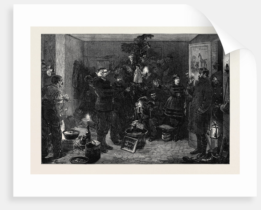 Christmas Eve at the Outposts Paris 1870 by Anonymous