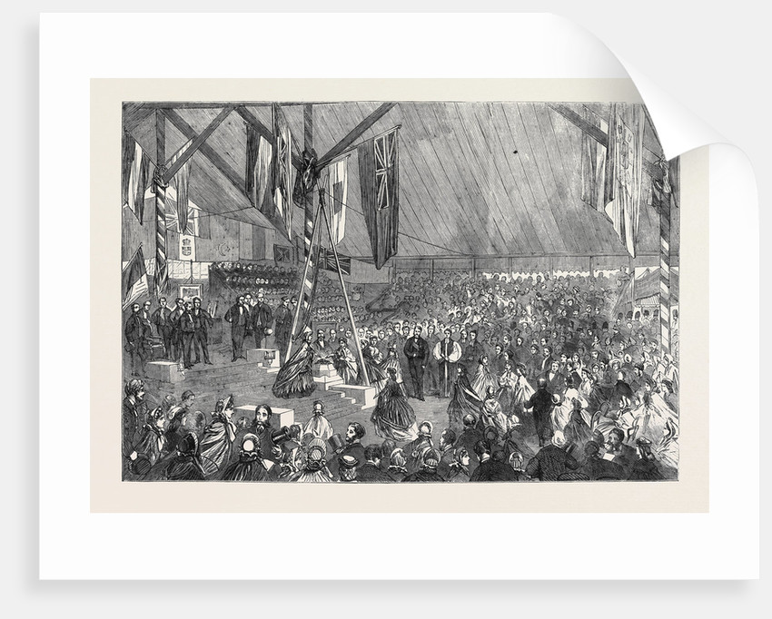 Laying the Foundation Stone of the Merchant Seamen's Orphan Asylum by the Prince Consort: Ladies Placing Purses on the Stone by Anonymous