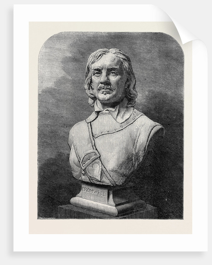 Bust of Oliver Cromwell, in the Exhibition of the Royal Academy by Anonymous