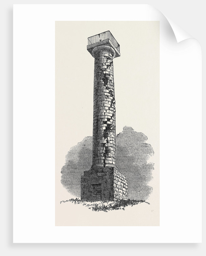 The Jessop Monument Codnor Park Derbyshire Struck by Lightning on the 8th Inst. July 27 1861 by Anonymous
