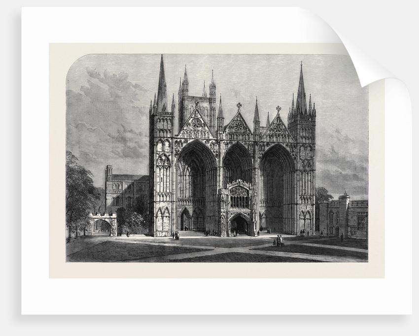 The Archeological Institute of Great Britain and Ireland at Peterborough: West Front of Peterborough Cathedral by Anonymous