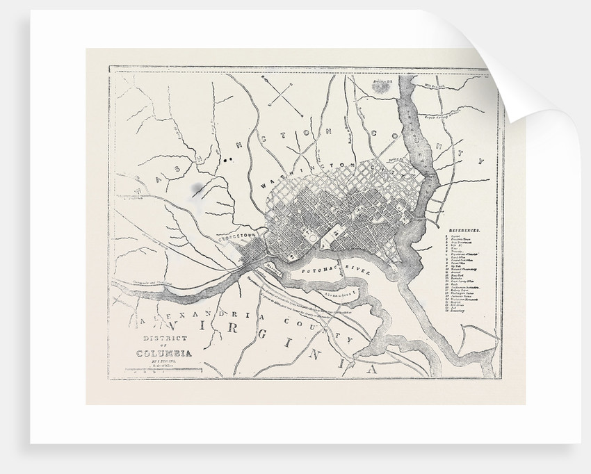 Map of District of Columbia by Anonymous