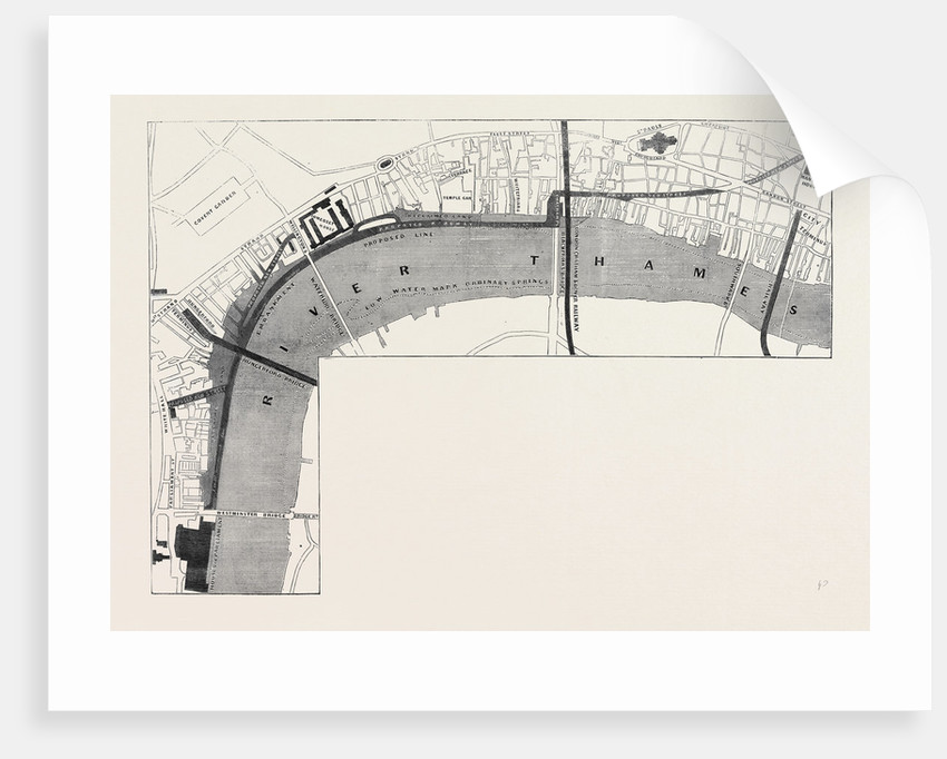 Plan of the Proposed Thames Embankment Saturday August 10 1861. by Anonymous