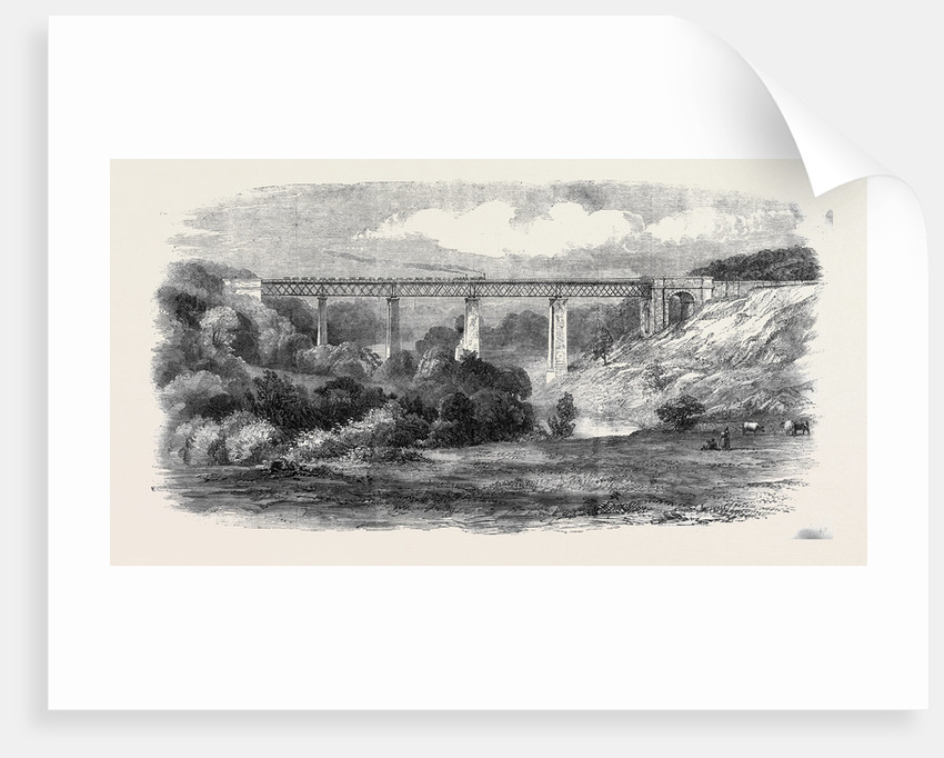 Opening of the South Durham and Lancashire Union Railway: The Tees Viaduct by Anonymous