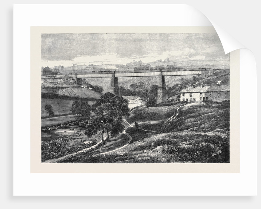 The Mottram Viaduct on the Manchester Sheffield and Lincolnshire Railway by Anonymous