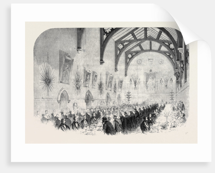 The Installation of Lord Palmerston As Lord Warden of the Cinque Ports: The Banquet in the Townhall (Maison Dieu) Dover by Anonymous
