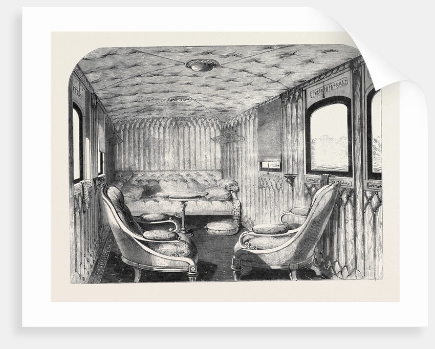Saloon of Her Majesty's Carriage on the London and North-Western Railway. by Anonymous