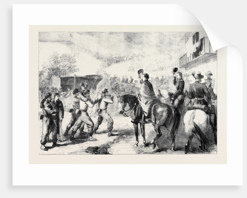 The War in America: Bringing in the Federal Wounded after the Skirmish at Lewinsville Virginia by Anonymous