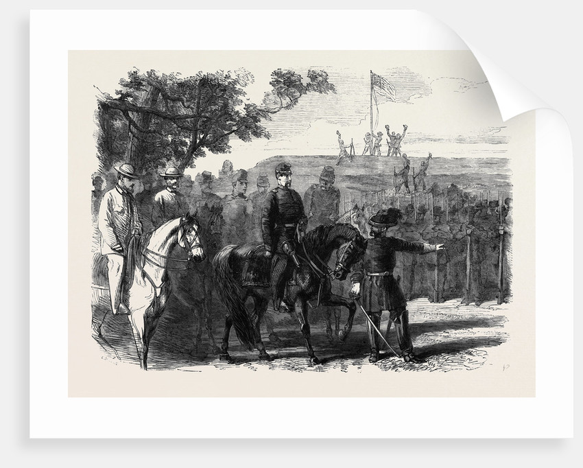 The Civil War in America: General M'Clellan Occupying the Confederate Position at Munson's Hill October 26 1861 by Anonymous