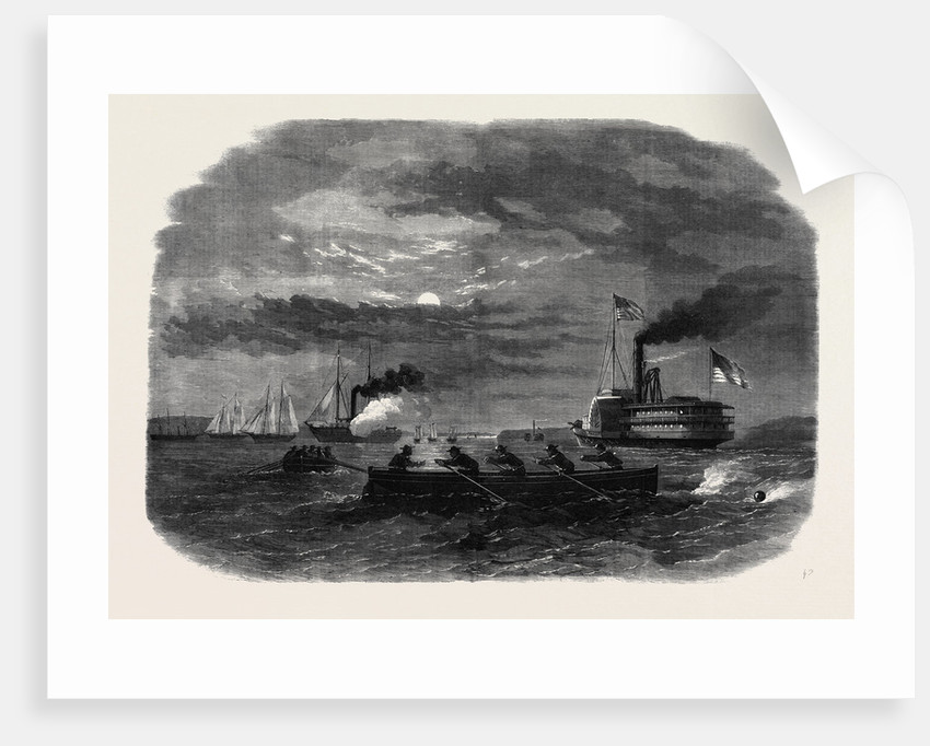 The Civil War in America: Cutting Off a Confederate Despatch Galley on the Potomac Near Freestone Point by Anonymous