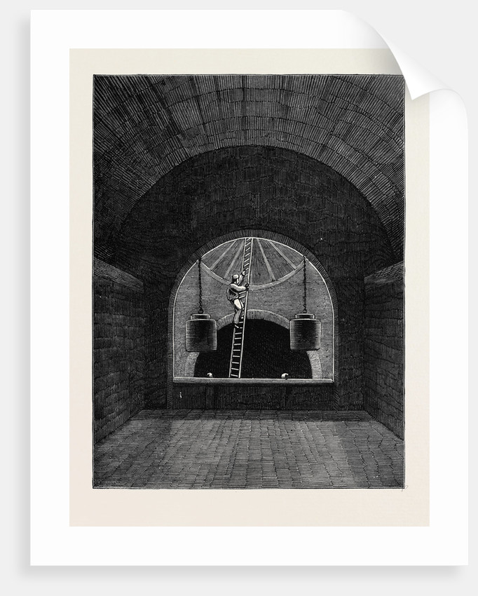 The Penstock Chamber at Old Ford London Main Drainage by Anonymous