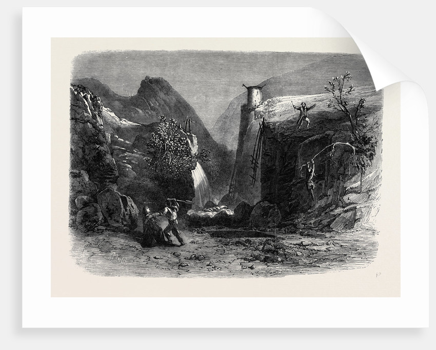Scene from Mr. Falconer's New Drama Peep O'Day at the Lyceum Theatre: The Old Quarry in the Foil Dhuiv or Dark Valley by Anonymous