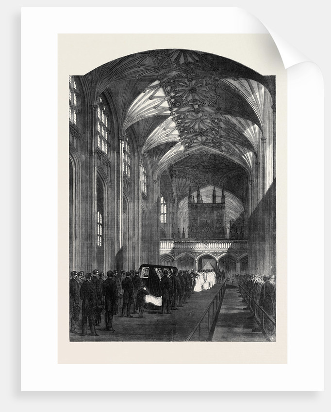 The Funeral Procession in the Nave of St. George's Chapel Windsor the Funeral of His Late Royal Highness the Prince Consort by Anonymous