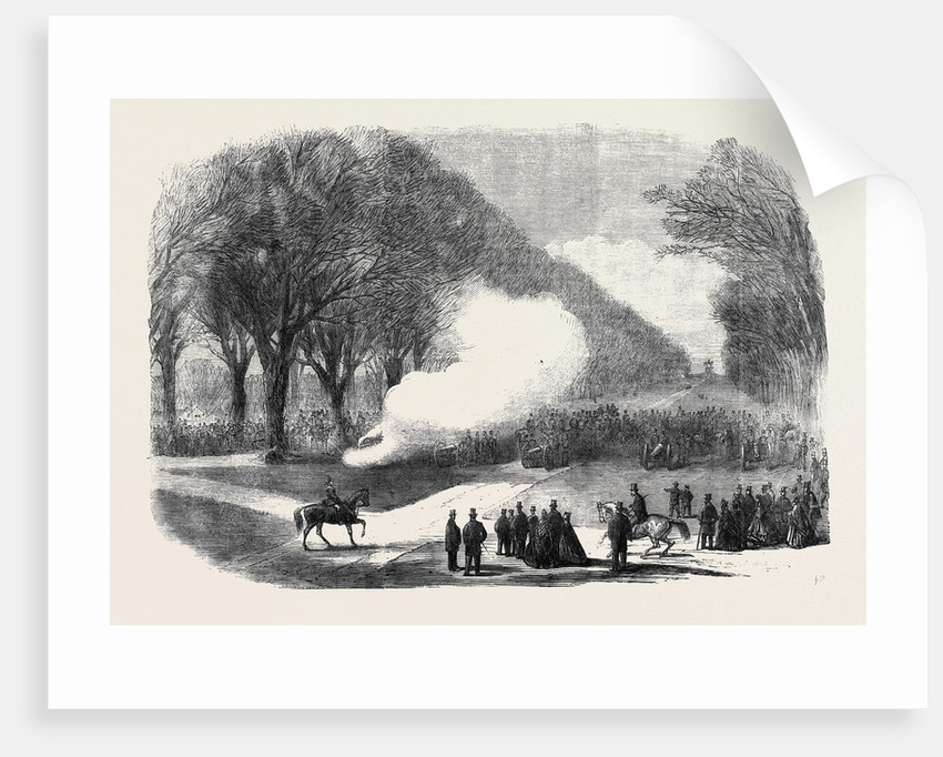 Firing Minute Guns in the Long Walk Windsor Park the Funeral of His Late Royal Highness the Prince Consort by Anonymous
