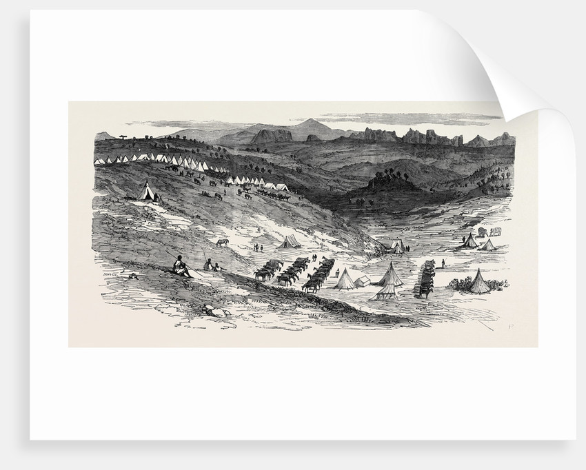 The Abyssinian Expedition: Camp of General Sir R. Napier at Ad-Abaga 1868 by Anonymous