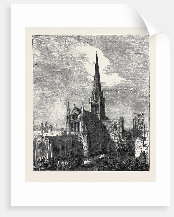 Chichester Cathedral: General View from West Street by Anonymous