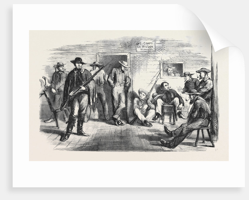 The Civil War in America: Some of Wilson's Boys in Wooden Camp at Staten Island by Anonymous