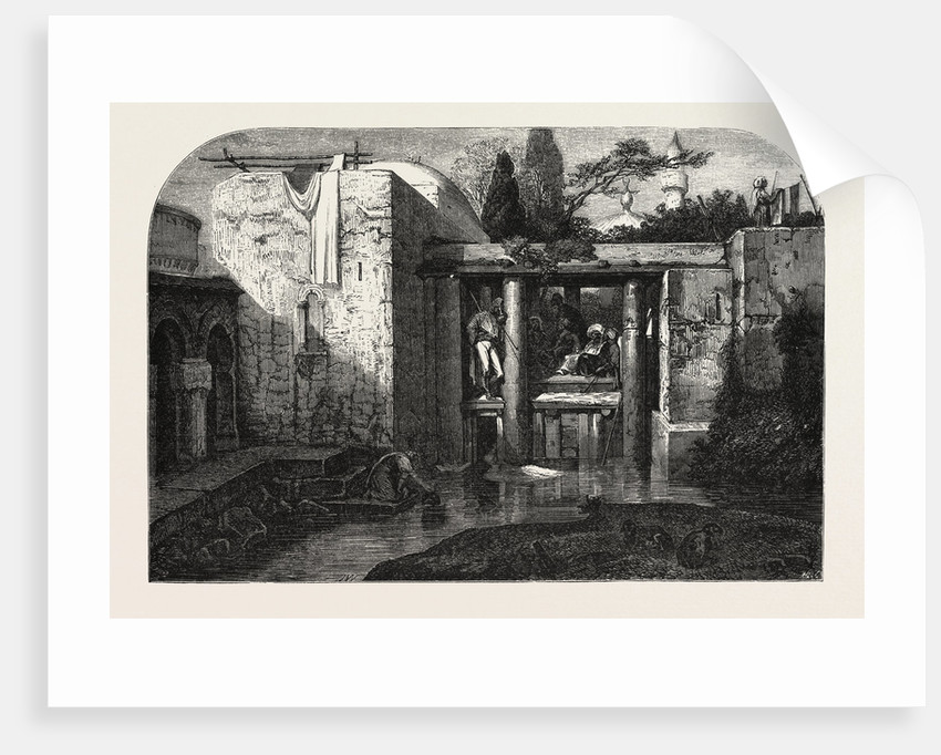 A Coffee in Asia Minor, Engraving 1855 by Anonymous