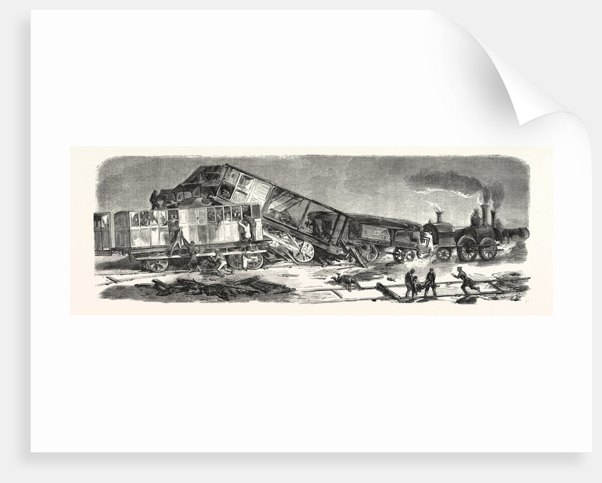 Accident Happened on the Versailles Railway, September 9, 1855, France by Anonymous