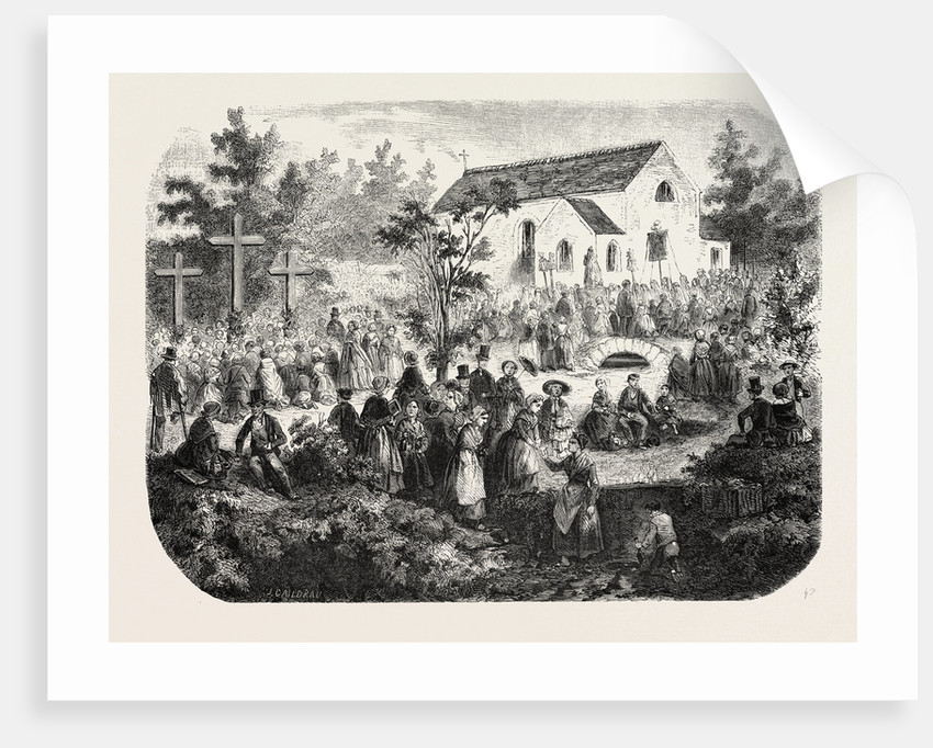 Fete of the Nativity of Our Lady: Pilgrimage to Our Lady of the Angels, Livry (Seine-Et-Oise), France, 1855 by Anonymous