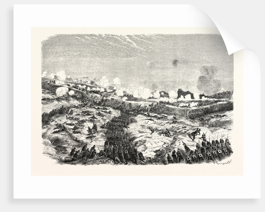 Attack of the Courtine by the Devision of the Motterouge. The Crimean War, 1855 by Anonymous