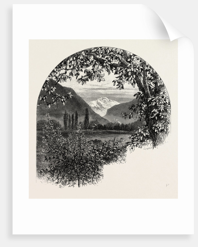 The Jungfrau, from Interlaken, Bernese Oberland, Berner Oberland, Switzerland by Anonymous