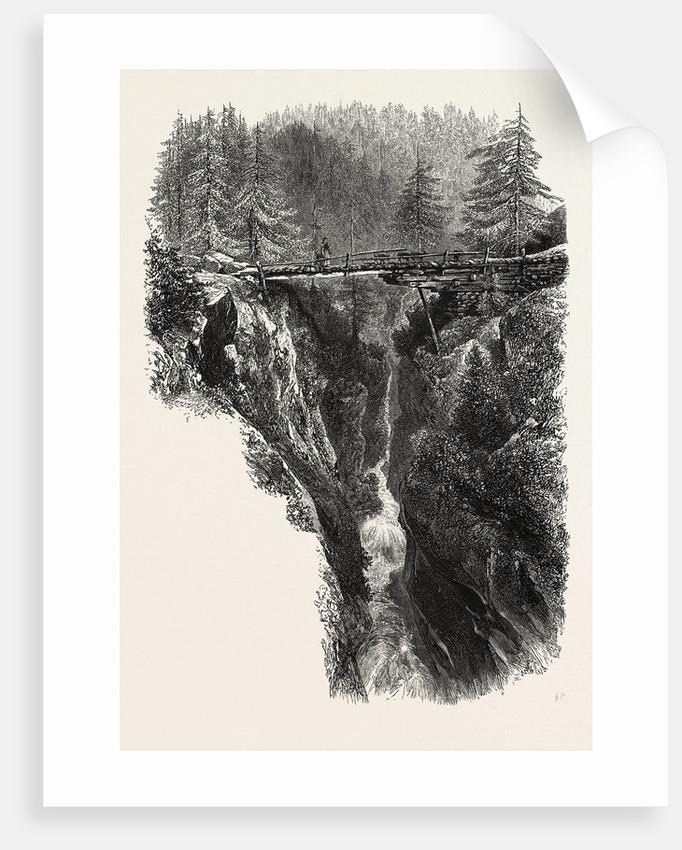Bridge in Zermatt Valley, Switzerland by Anonymous