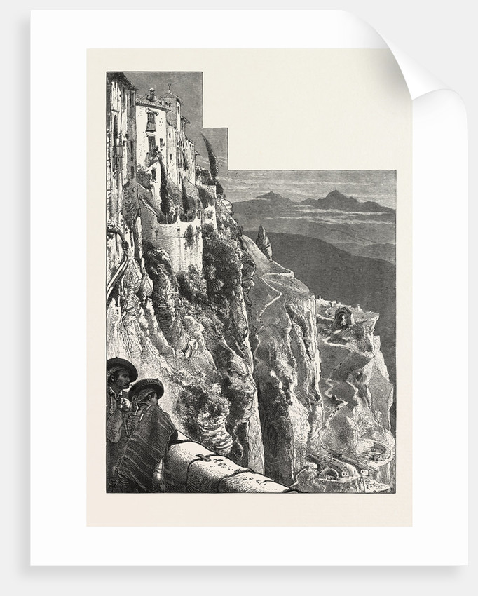 From the Bridge, Ronda by Anonymous