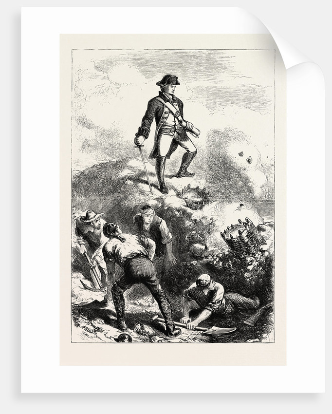 The Defence of Breed's Hill: Prescott in the Redoubt by Anonymous