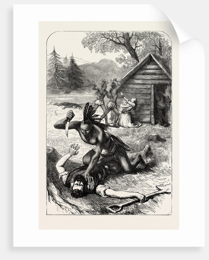 Massacre of Settlers by Indians in North America by Anonymous