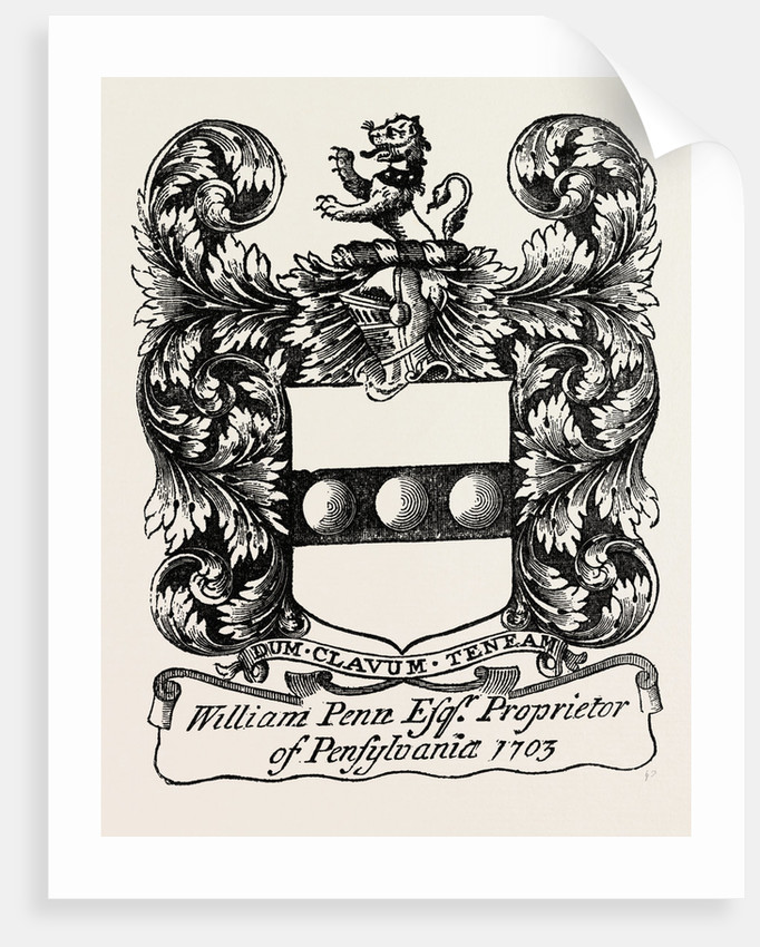 William Penn's Book-Plate by Anonymous