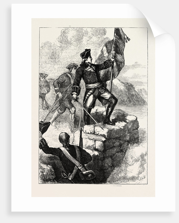 Washington Planting the British Flag at Fort Duquesne by Anonymous