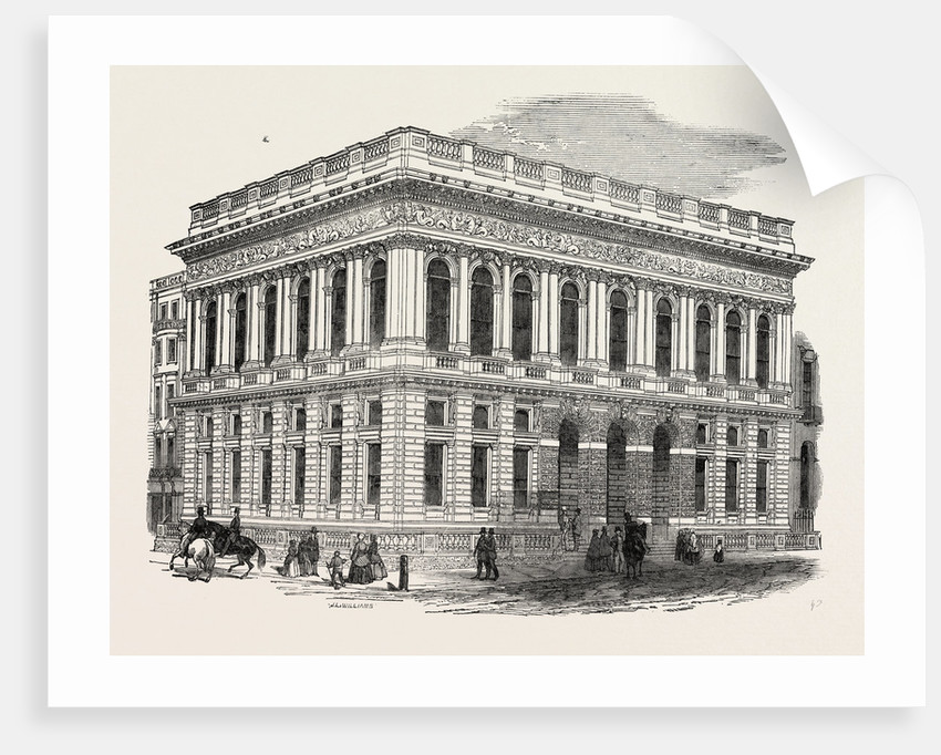 Exterior of the Army and Navy Club House, Pall Mall, London by Anonymous