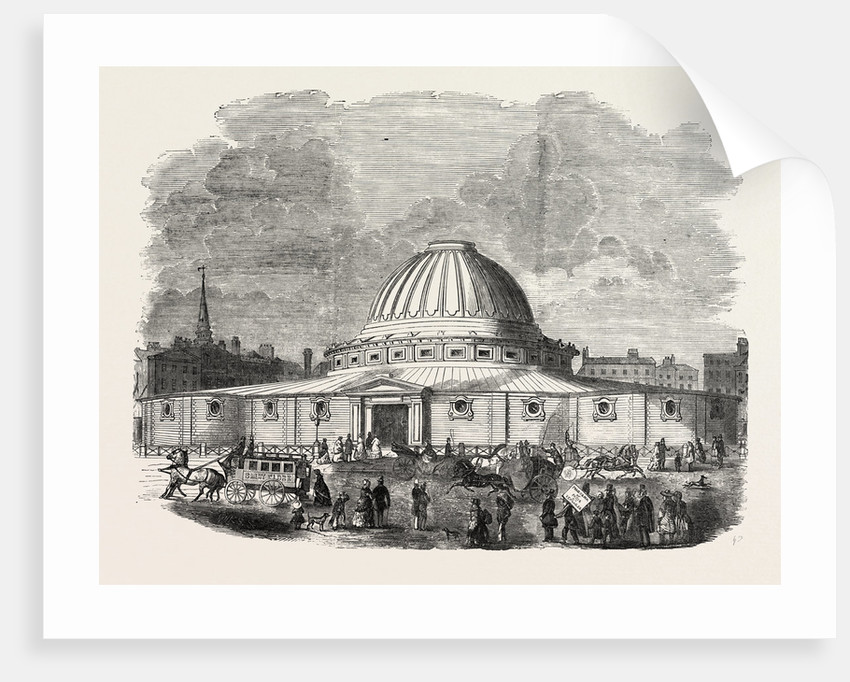 The Building in Leicester Square, London, for Mr. Wyld's Model of the Earth by Anonymous