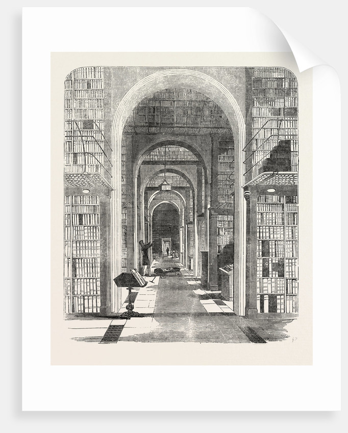 British Museum, the Royal or King's Library, the Arched Room, London by Anonymous