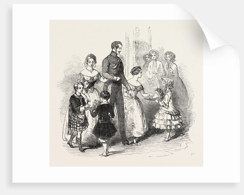 Presenting a Bouquet to the Prince of Wales by Anonymous