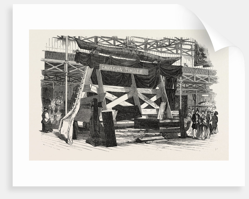 The Great Exhibition, Crystal Palace, Hyde Park, London: Canadian Timber Trophy by Anonymous