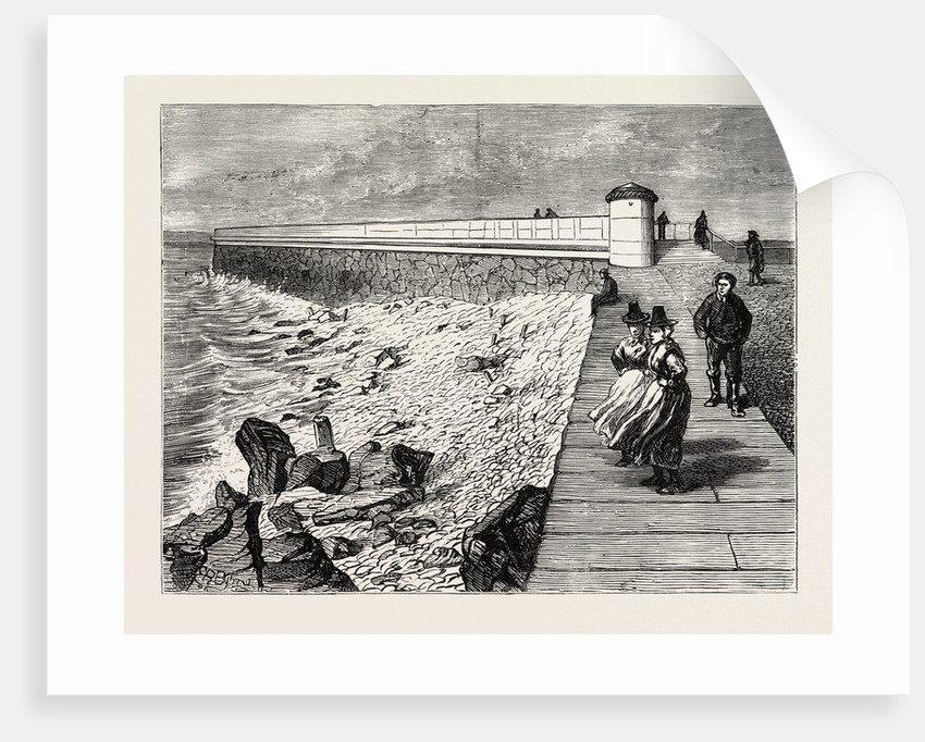 Inauguration of the Holyhead Breakwater and Harbour of Refuge by H.R.H. The Prince of Wales: Shore End of the Breakwater, Wales by Anonymous