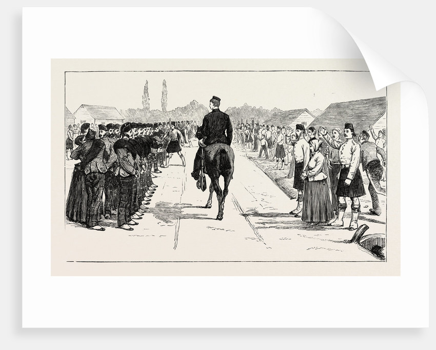 Volunteers from the 79th Highlanders Leaving England for the Ashantee War: The Parade by Anonymous