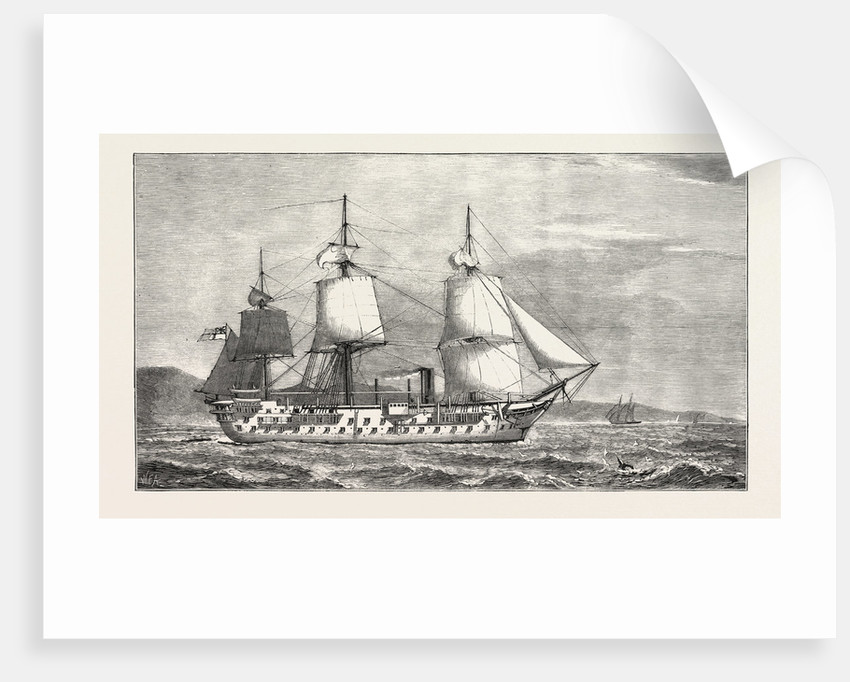 The Ashantee War: The Hospital Ship Victor Emmanuel, to Be Moored Off the Gold Coast, Anglo Ashanti War, Ghana by Anonymous