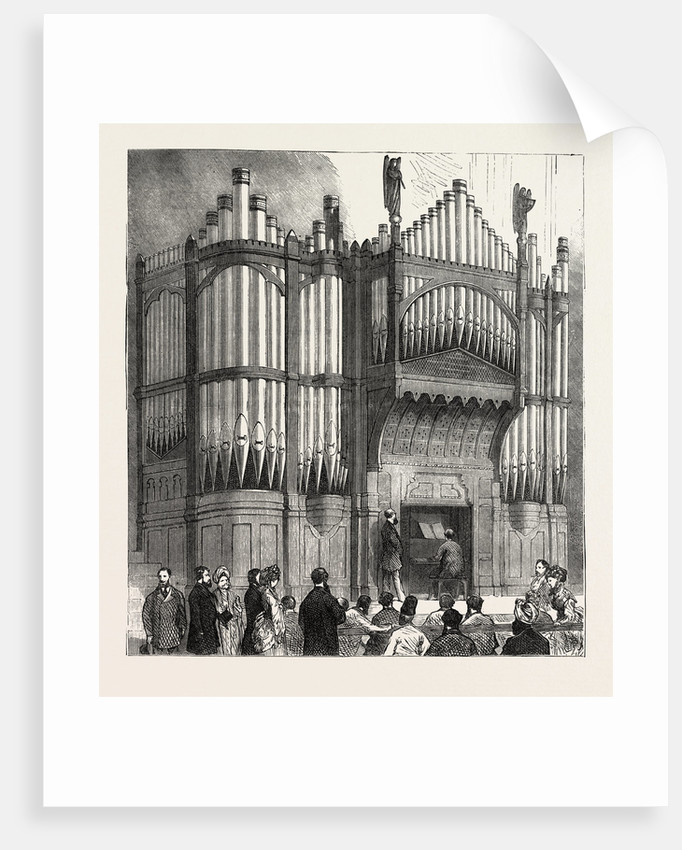 Presentation of the Freedom of the City to Sir Albert D. Sassoon, K.S.I.: Organ Presented by Sir A.D. Sassoon to the Town Hall, Bombay, India by Anonymous