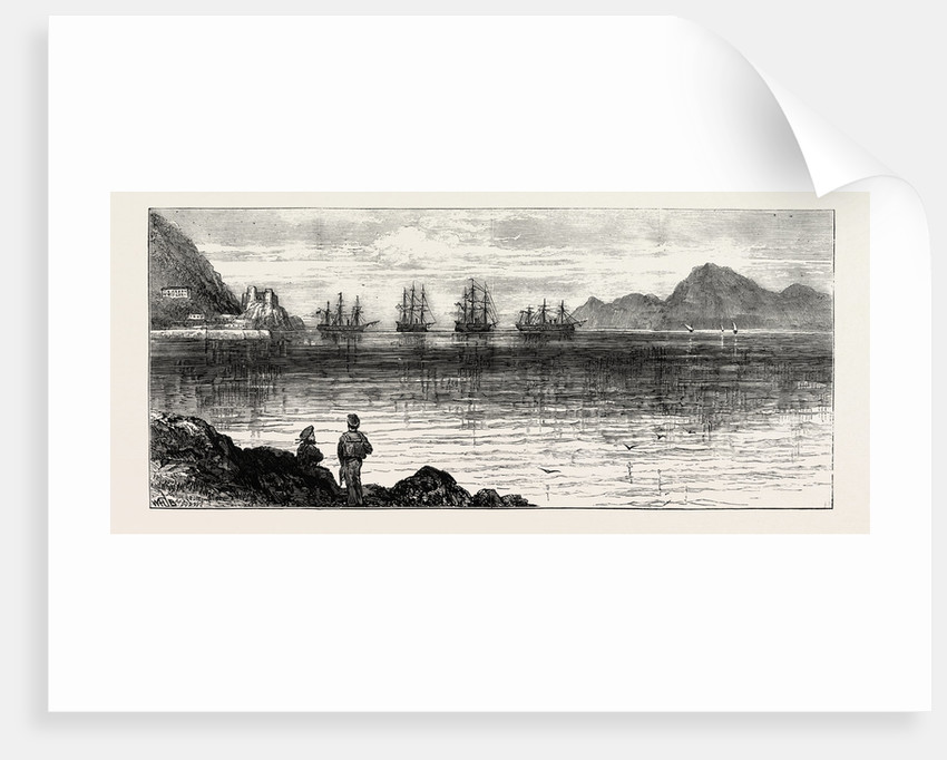 The Civil War in Spain: H.M.S. Triumph and Swiftsure Convoying the Intransigente Vessels Vittoria and Almanza Into Gibraltar by Anonymous