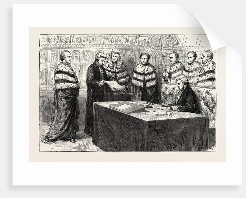 The Lord Chancellor Taking His Seat in the House of Lords As a Peer by Anonymous