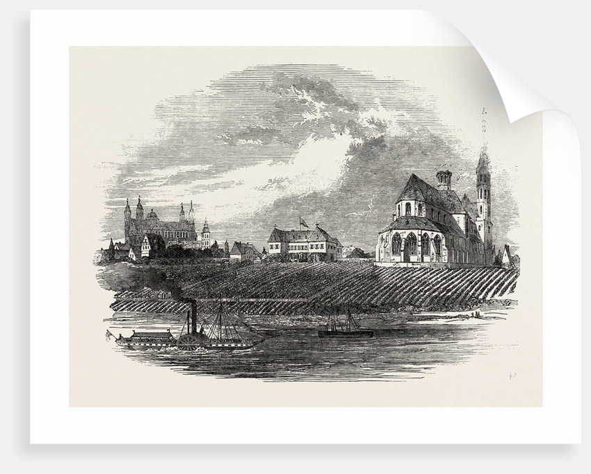 View of the Liebfrau Vineyard, the Cathedral of Worms in the Distance by Anonymous