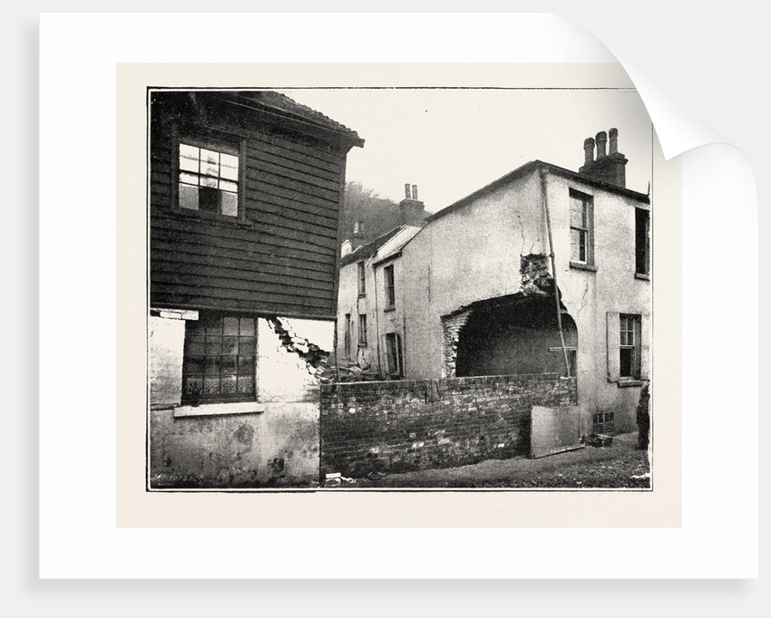 The Landslip at Sandgate: In Chapel Street, UK by Anonymous