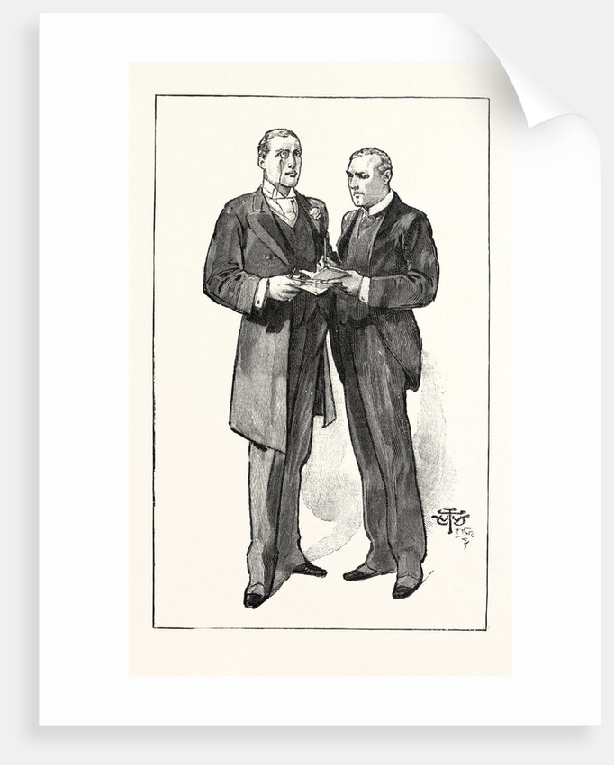 A Division in the House of Commons: The Liberal Unionist Whips: Mr. Austen Chamberlain and Mr. Anstruther, UK by Anonymous