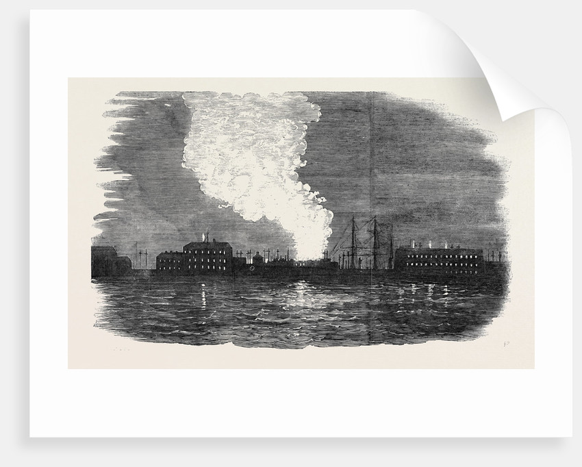 Fire Over Cronstadt, Seen from the Quarterdeck of the Caesar by Anonymous