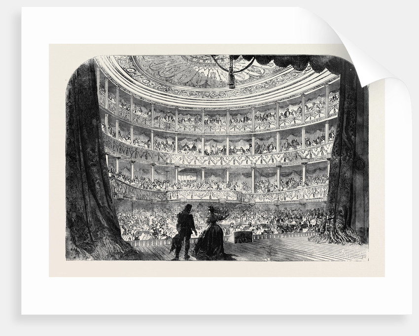 Performance Before Her Majesty in the Theatre of the Palace of St. Cloud by Anonymous