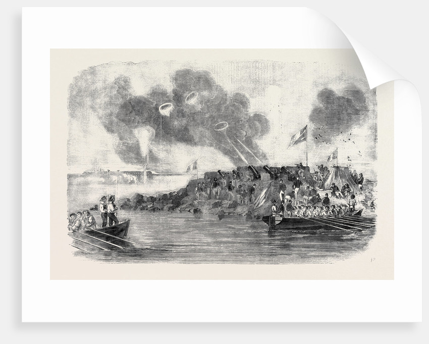 The French Mortar Battery Before Sveaborg by Anonymous