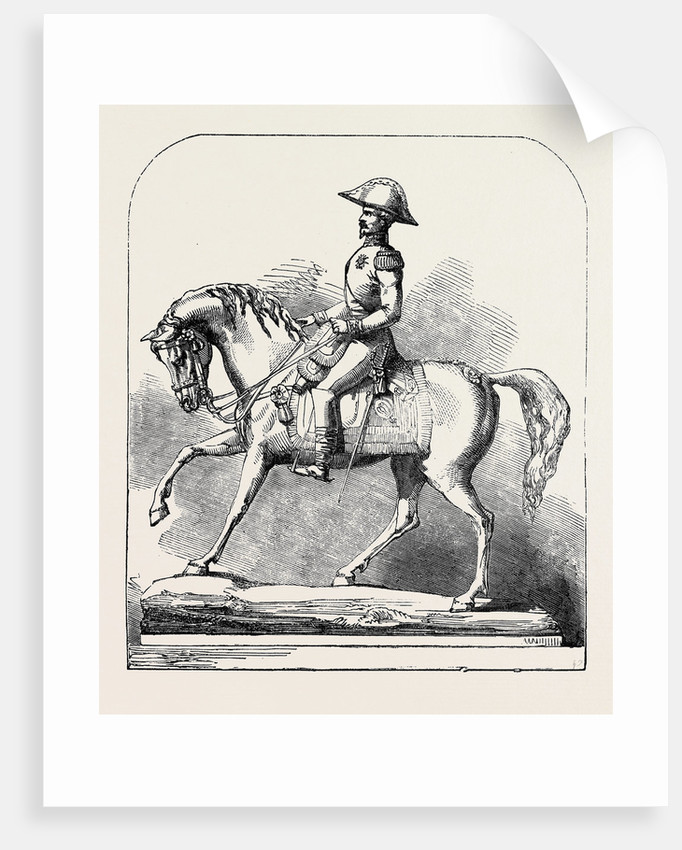 The Paris Universal Exhibition: Silver Statuette of Napoleon III by Anonymous